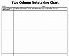Two Column Template Word Note Taking Templates Copy Paste And Type Directy Into