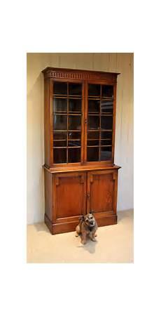 golden oak cabinet bookcase antiques atlas