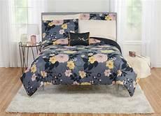 mainstays floral poppy bed in a bag bedding set walmart