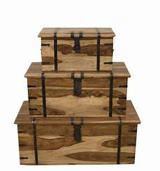 Jali Solid Sheesham Indian Rosewood Nest Of 3 Tablessolid by Jali Solid Sheesham Indian Rosewood Set Of 3 Trunk Boxes