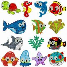 embroidery animals sea animals machine applique embroidery patterns 14