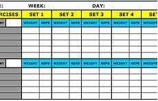 Exercise Log Excel 8 Best Workout Log Templates For Excel And Word