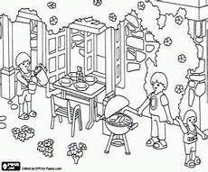 Ausmalbilder Playmobil Familie Hauser Colorear Playmobil Una Barbacoa Familiar Playmobil