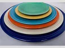 Vintage Fiesta 13inch Chop Plate in Original Ivory Glaze