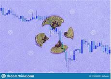 Cryptocurrency Rate Chart Broken Bitcoin On A Falling Digital Chart Of The