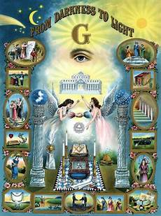 Darkness Chart Freemasonry Separate Order Of The Temple Of Solomon