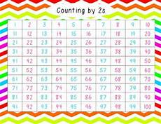 Counting By 2 S Chart Colorful 100 Charts Free Counting By Twos Fives And