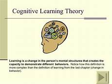 Cognitive Learning Definition Cognitive 1