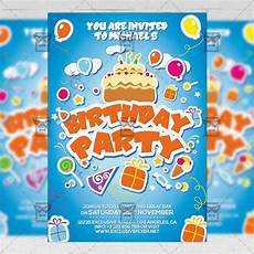 A5 Invitation Template Kids Birthday Invitation Card A5 Psd Template