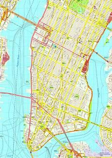 New York Malvorlagen Pdf New York Manhattan Map Eps Illustrator Vector City Maps