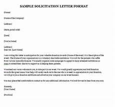 Sample Of Letter Of Solicitation For Donation 8 Solicitation Letters Word Find Word Letters
