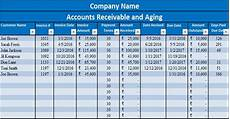 Example Of Accounts Receivable Download Accounts Receivable With Aging Excel Template