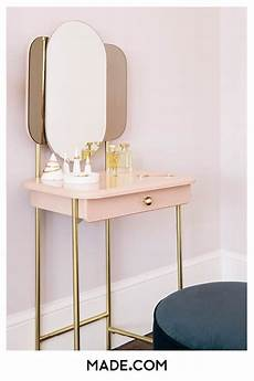 maddie dressing table pink brass small vanity table