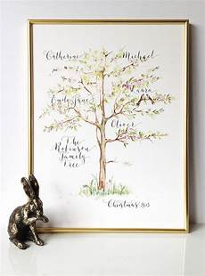 What Is A Family Tree Personalised Calligraphy Family Tree Print By By Moon