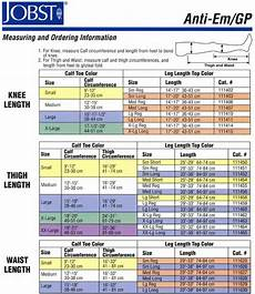 Jobst Compression Measuring Chart Jobst Antiem Gp Knee High Seamless Anti Embolism Elastic