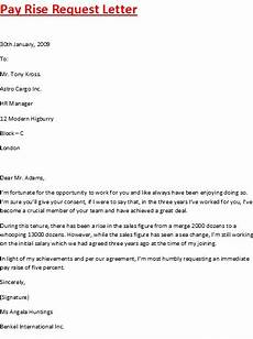 Pay Rise Letter Template Pay Rise Request Letter