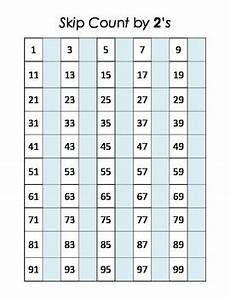 Counting By 2 S Chart Math Center Skip Counting By 2 S Hundred Chart By Rupert
