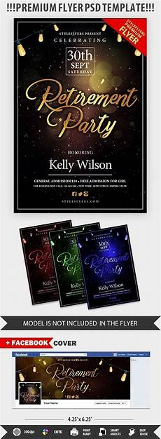 Retirement Party Flyers Retirement Psd Flyer Template 20781 Styleflyers
