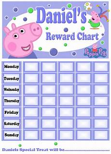 Peppa Pig Sticker Reward Chart Personalised Peppa Pig Amp George Reward Potty Training