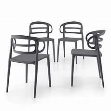 sedie da cucina set 4 sedie moderne da cucina carlotta grigio mobili fiver