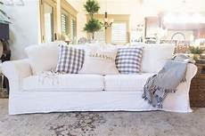 White Sofa Cover 3d Image by About White Slipcovered Sofa With And Pets