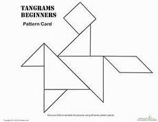 Tangram Kinder Malvorlagen Easy Easy Tangrams Puzzle 6 Kindergarten Math Worksheets