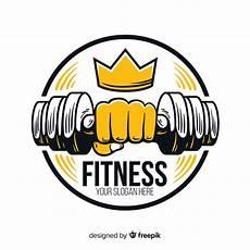 Fitness Logo Design Free Vector Flat Design Fitness Logo Template