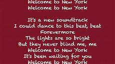 welcome to new york by lyrics