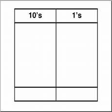 Hundreds Tens And Ones Chart Printable Clip Art Place Value Chart Tens 2 B Amp W 1 I Abcteach Com