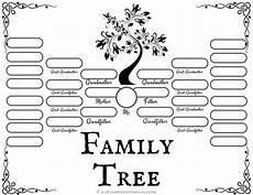 Family Tree Outlines Free 4 Free Family Tree Templates For Genealogy Craft Or