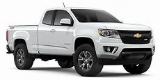 Chevrolet Colorado Comparison By Model And Trim Level Gm