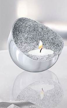Minera Tea Light Holder Swarovski Crystal Minera Tea Light Holder Silver Tone
