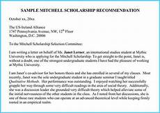 Sample Letter Of Recommendation For Scholarship Scholarship Reference And Recommendation Letters Best