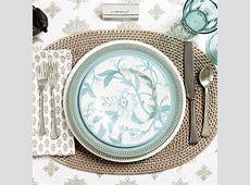 Rosa Melamine Accent Plates   Set of 4   Ballard Designs