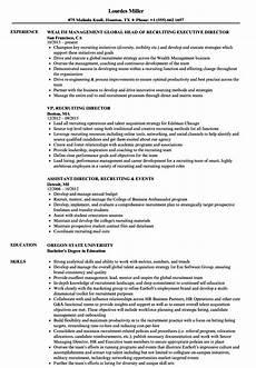 College Recruiter Resume Director Recruiting Resume Samples Velvet Jobs