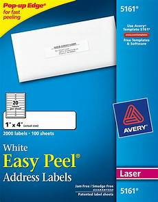 Free Avery Label Software Avery 174 Easy Peel 174 White Address Labels 5161 Avery Online