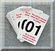 Take A Number Template Quot Take A Number Quot 50 High Quality Plastic Cards Printed