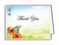 thank you for card template beautiful butterfly thank you card template