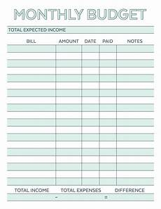 Best Monthly Planner Monthly Budget Planner Free Printable Worksheet Savor