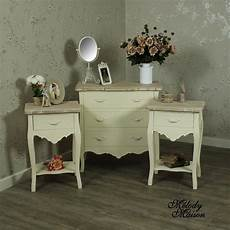 pair of bedside tables 5 drawer chest of drawers
