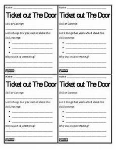 Ticket Out The Door Printable Quot Tweet Quot What You Know Formative Assessment Printables