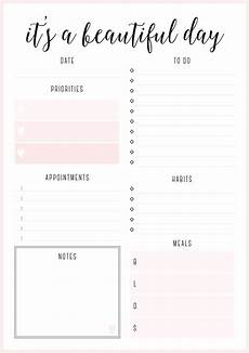 Free Printable Planner Pages Beautiful Daily Planners Free Printables Daily Planner