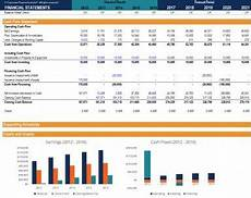 Simple Financial Model Excel Three Statement Financial Excel Model Eloquens