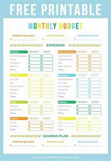 Budget Sheets Templates Free Printable Budget Sheet Printable Crush