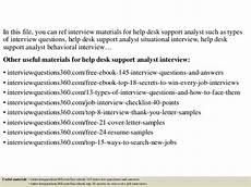 Help Desk Analyst Interview Questions Top 10 Help Desk Support Analyst Interview Questions And