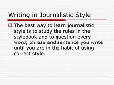 Journalistic Style Ppt Writing In Journalistic Style Powerpoint