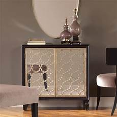 uttermost franzea mirrored accent cabinet reviews wayfair