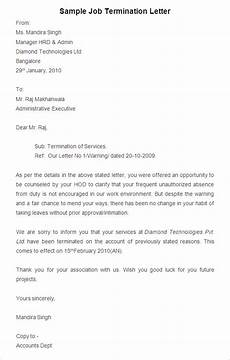 Employee Termination Letter Sample 38 Free Termination Letter Templates Pdf Doc Free