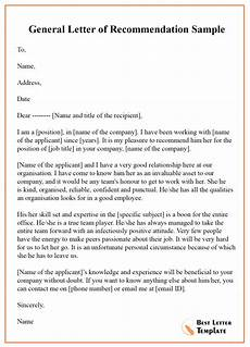 Letter Or Recommendation Template 12 Free Recommendation Letter Sample Amp Example