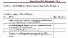 Self Identify Form Self Assessment Form